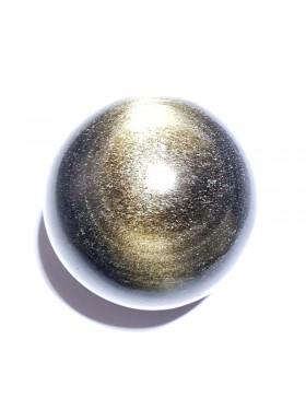 Sphère en obsidienne dorée