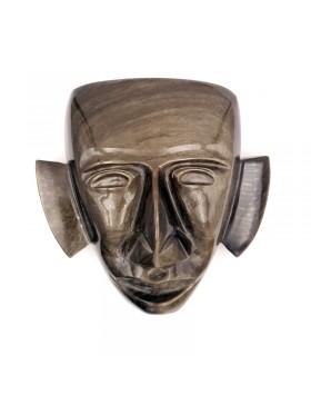 Masque en obsidienne dorée