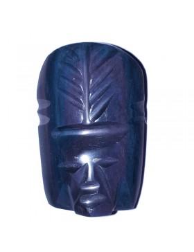 Cabochon tête obsidienne arc-en-ciel