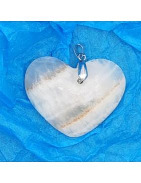 Pendentif en onyx en forme de coeur