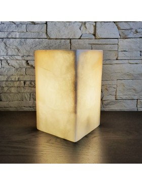 Lampe de table rectangulaire blanc