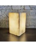 Lampe de table rectangulaire blanc