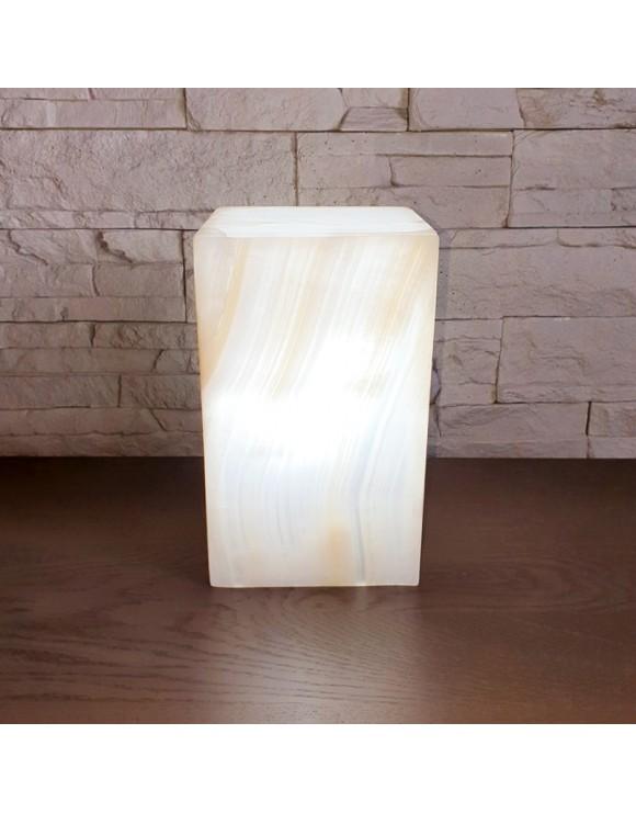 Lampe de table rectangulaire blanche