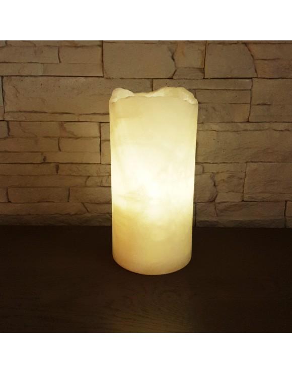 Lampe cilyndrique rustique