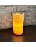 Lampe artisanale orange
