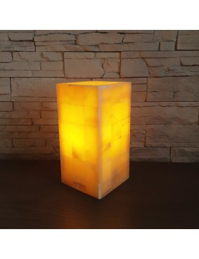 Lampe rectangulaire orange