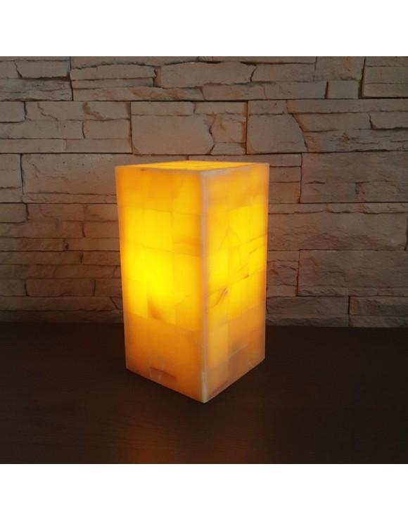 Lampe rectangulaire orange