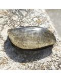 Cabochon obsidienne dorée
