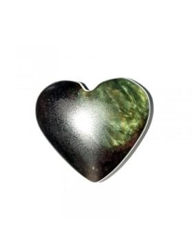 Petit coeur en obsidienne manto huichol
