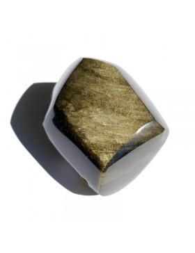 Bloc en obsidienne dorée