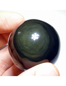 Sphère obsidienne oeil-céleste