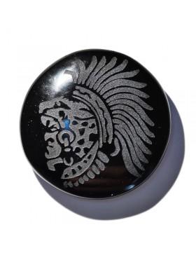 Cabochon en obsidienne noire
