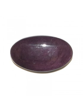 Cabochon obsidienne Manto huichol