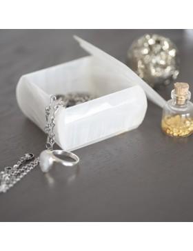 Boîte à bijoux carré blanc