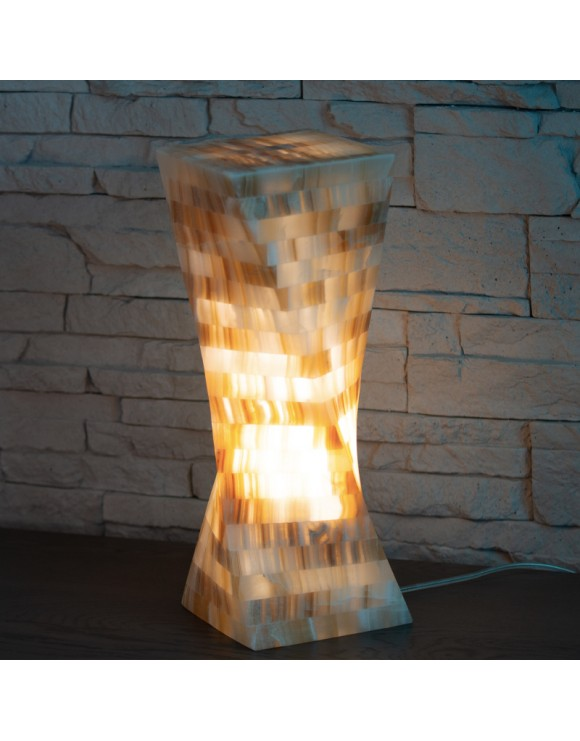 Lampe de table en onyx marbre