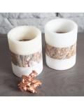 Pot cylindrique rouge en onyx et marbre
