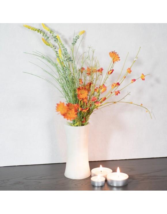 Vase décoratif en onyx blanc