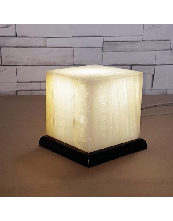 Lampe d'appoint en onyx blanc