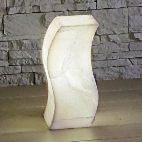 Lampe de table en forme de S