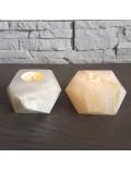 Porte-bougie étoile onyx marbre ambre