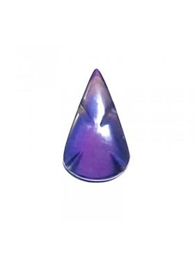 Cabochon triangle en obsidienne manto huichol