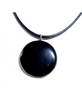 Pendentif rond en obsidienne arc-en-ciel