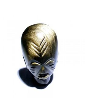 Sculpture en obsidienne dorée