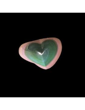 Coeur en obsidienne oeil-celeste (arc-en-ciel)