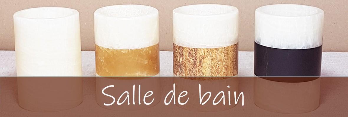 Accessoires pour la salle de bain en onyx marbre